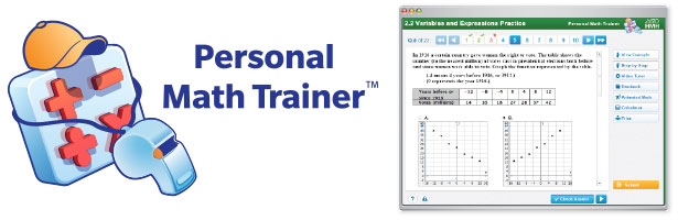 Personal Math Trainer - Screen with Math Problem
