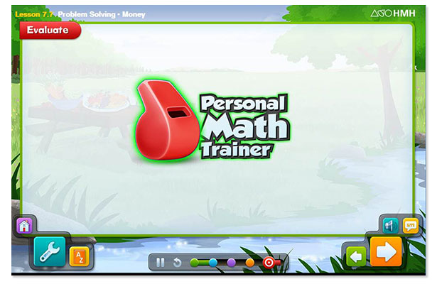 Personal Math Trainer Screen