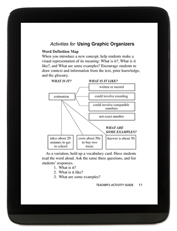 Tablet - Using Graphic Organizers