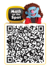 Math on the Spot Scannable QR Barcode