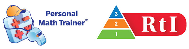 Personal Math Trainer and RtI Logos