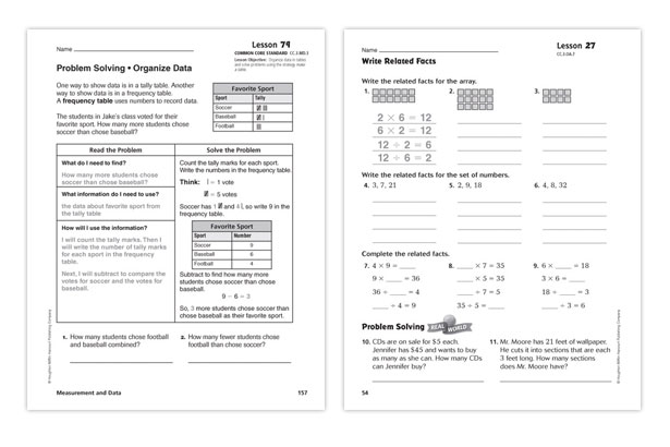 On Core Mathematics on Go Math Standards Practice Book Grade Houghton Mifflin Pictures