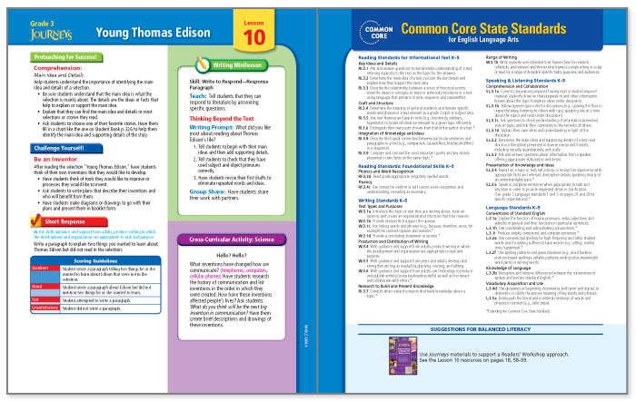 Balanced Literacy Guide Grade 4 Vol. 1 Units 1 and 2 McGraw-Hill Reading Wonders