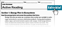 Printables Active Reading Worksheets holt mcdougal environmental science textbooks active reading worksheets