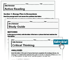 Printables Active Reading Worksheets holt mcdougal environmental science textbooks editable worksheets