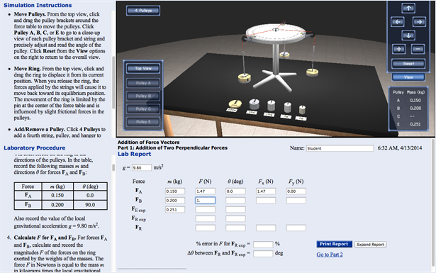online virtual physics lab