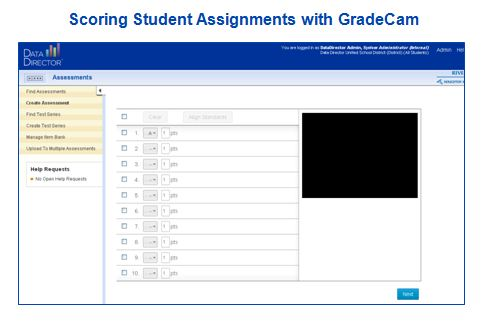 GradeCam scoring student assignments