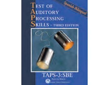 Test of Auditory Processing Skills, 3rd Edition Spanish Bilingual Edition (TAPS-3, SBE)