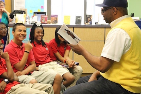kwame alexander reading in the classroom