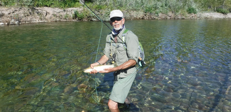 Doc fly fishing